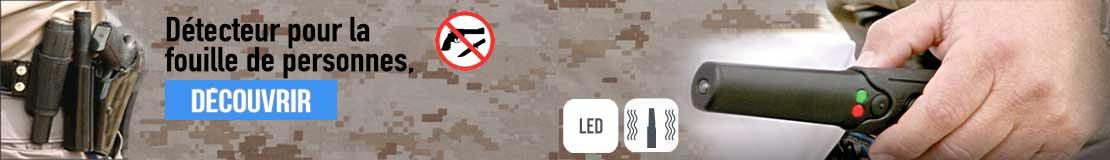 Détecteur de sécurité THD, petit et discret il s'adaptera facilement à votre équipement