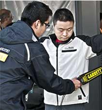 Détecteur de sécurité Superscanner utilisé lors de rencontres sportives